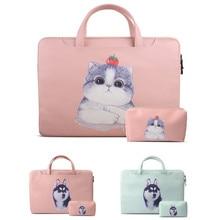 PU Leather Laptop Bag Notebook Bag 13.3 15.6 Case For Macbook Air Pro 13 15 Laptop Sleeve 11 12 13 14 15 inch Women Handbag все цены