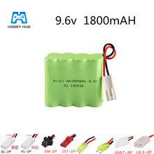 Oplaadbare 9.6 V 1800 Mah Batterij 9.6 V Aa Nicd Aa Voor Elektrische Speelgoed Rc Auto Schip Vrachtwagens Gun 1800 mah Hoge Capaciteit NI-CD Batterij