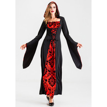 New In Stock Halloween Cosplay Black Red Ghost Bride Costume Clothes Vampire Masquerade for Woman