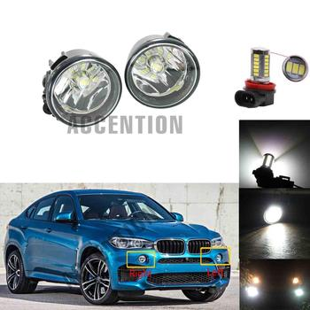 Front LED Fog Light Fog Lamp With LED Bulbs For BMW X6 F16 M 2016 2017 2018 Car-Styling image