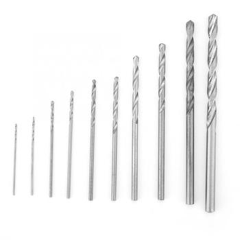 цена на HSS gereedschapskoffer 10PCS Durable High Speed Steel Straight Shank 0.5-3mm Twist Drill Bits Drilling Tools  Hole Saw