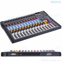 MiCWL 12 Channel Audio Mixer Mixing Console Music Recording Bluetooth Mixer DSP Phantom Power USB Monitor MP3 3 brand EQ effect