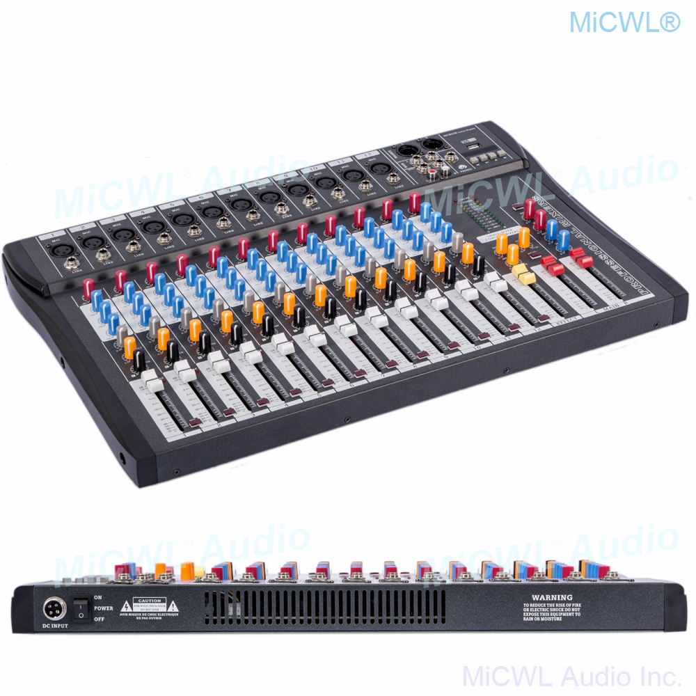MiCWL 12 Kanal Audio Mixing Konsole Musik Aufnahme Bluetooth Mischer DSP Phantom Power USB Monitor MP3 3 marke EQ wirkung
