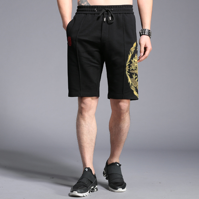 Tao Bai Ye Summer Shorts Men's Chinese-style Embroidered Palace Pattern 5 Shorts Teenager Sports Shorts K5019
