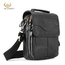 "Quality Leather Male Casual Design Shoulder Messenger bag Cowhide Fashion Cross body Bag 8"" Tablet Tote Mochila Satchel 144 b"