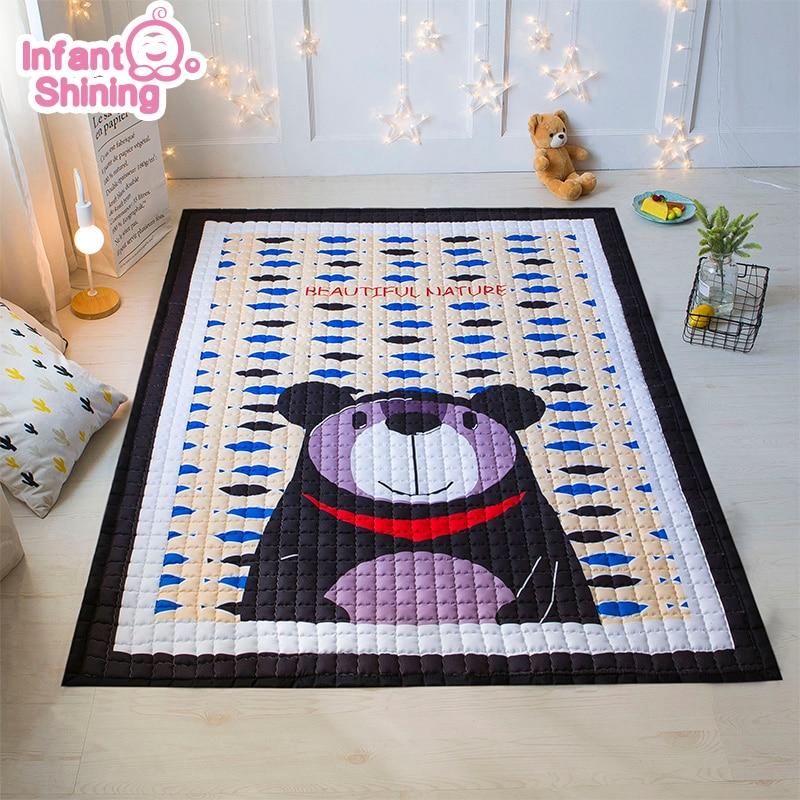 Niemowlę Shining 2018 maty do zabawy dla dzieci cztery pory roku bawełniane dywaniki 1.5 CM pogrubienie dzieci gra koc sypialnia miękki dywan w Maty do zabawy od Zabawki i hobby na  Grupa 1