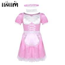 Dress Sexy-Costumes Maid-Uniform Clubwear Sissy Fancy Mens Iiniim No with Choker And