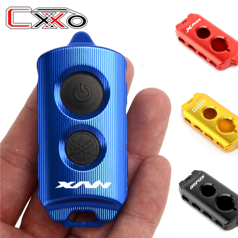 Motorcycle Alumnum Key Case Cover For <font><b>YAMAHA</b></font> X-MAX <font><b>125</b></font> 250 400 <font><b>XMAX</b></font> 300 17-19 key Holder Protector QBIX AEROX 155 NVX <font><b>125</b></font> 155 image