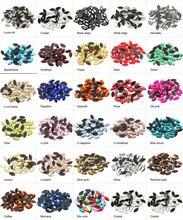 Новая распродажа разноцветные стразы конский глаз 4х8 мм плоские