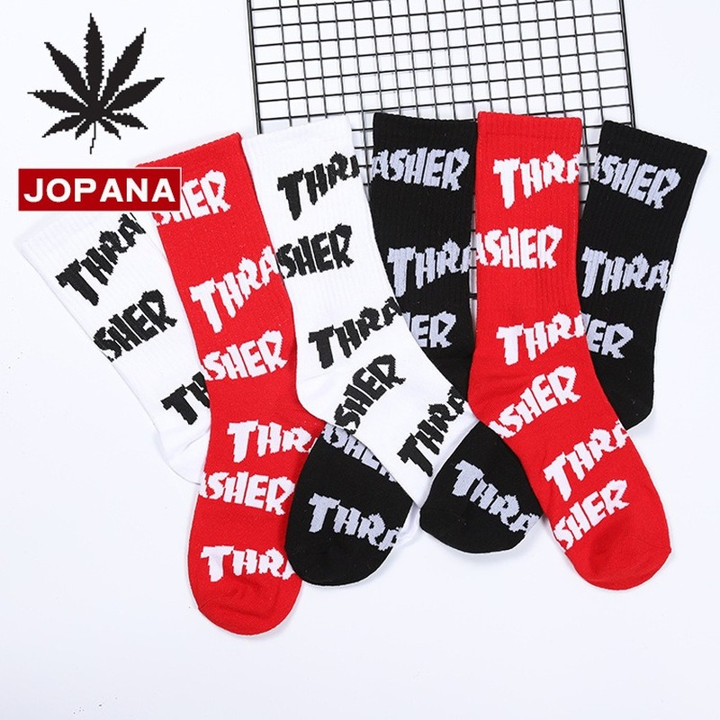 Letter Men Happy Sock Compression Cotton Sporting Socks Warm Korean Funny Novelty Streetwear Trendy Casual Fashion Calcetines