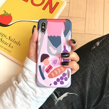 For Iphone 7 8 Plus 6s Abstract Illustration Pattern Phone Case IPhone X XS 6 6S Soft Silicone Cover