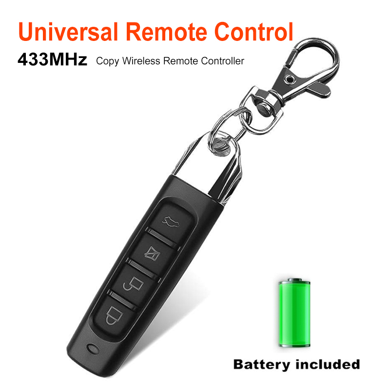 Anti-theft Lock 433MHZ Remote Control Garage Gate Door Opener Remote Controller Car Door Duplicator Clone Cloning Code Car Key