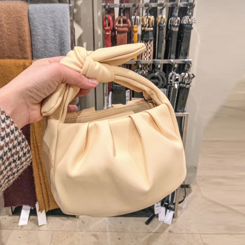 Women Cloud Dumplings Messenger Bag Retro 2020 New Fashion Cloud Shape Female Cross-body Shoulder Bag Handbag Clutch Bag