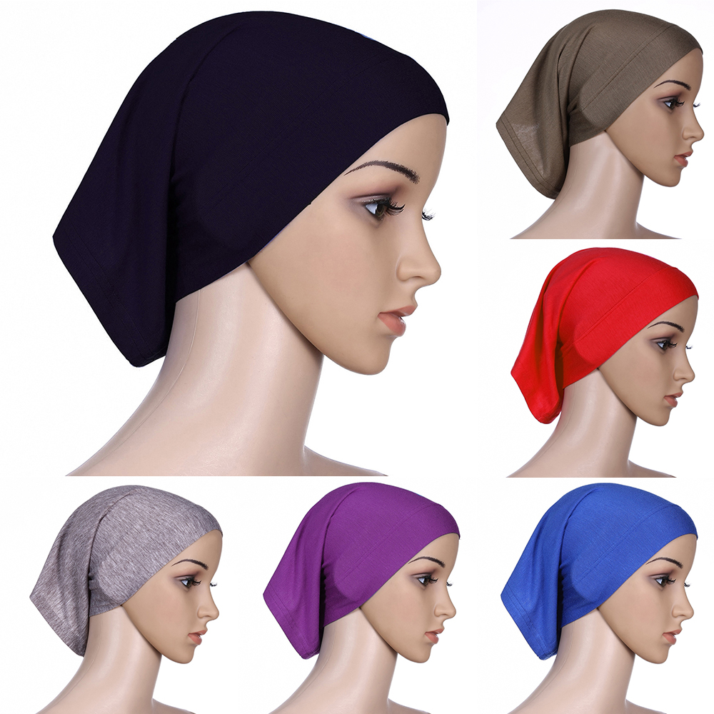 2019 Newest Islamic Muslim Women's Head Scarf Cotton Underscarf Hijab Cover Headwrap Bonnet