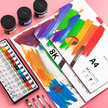 A4/8K Disposable Oil Painting Gouache Acrylic Suitable for Tear-free Disposable Toning Book 30-page Painting SuppliesCN(Origin)