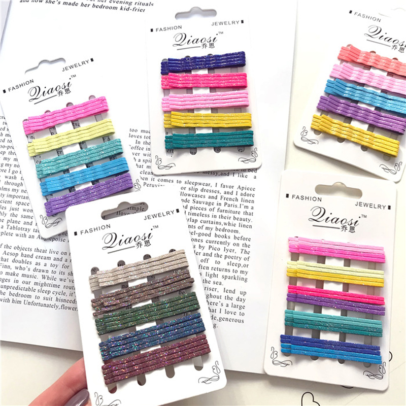 20Pcs/set Fashion Women Headwear Set Shiny Colorful Barrettes Simple Metal Painting Hair Clips Girls Hairpins Hair Accessories