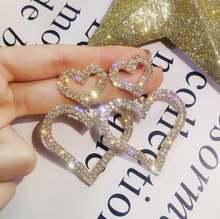 Женские Висячие серьги za stone с двумя сердечками модные для