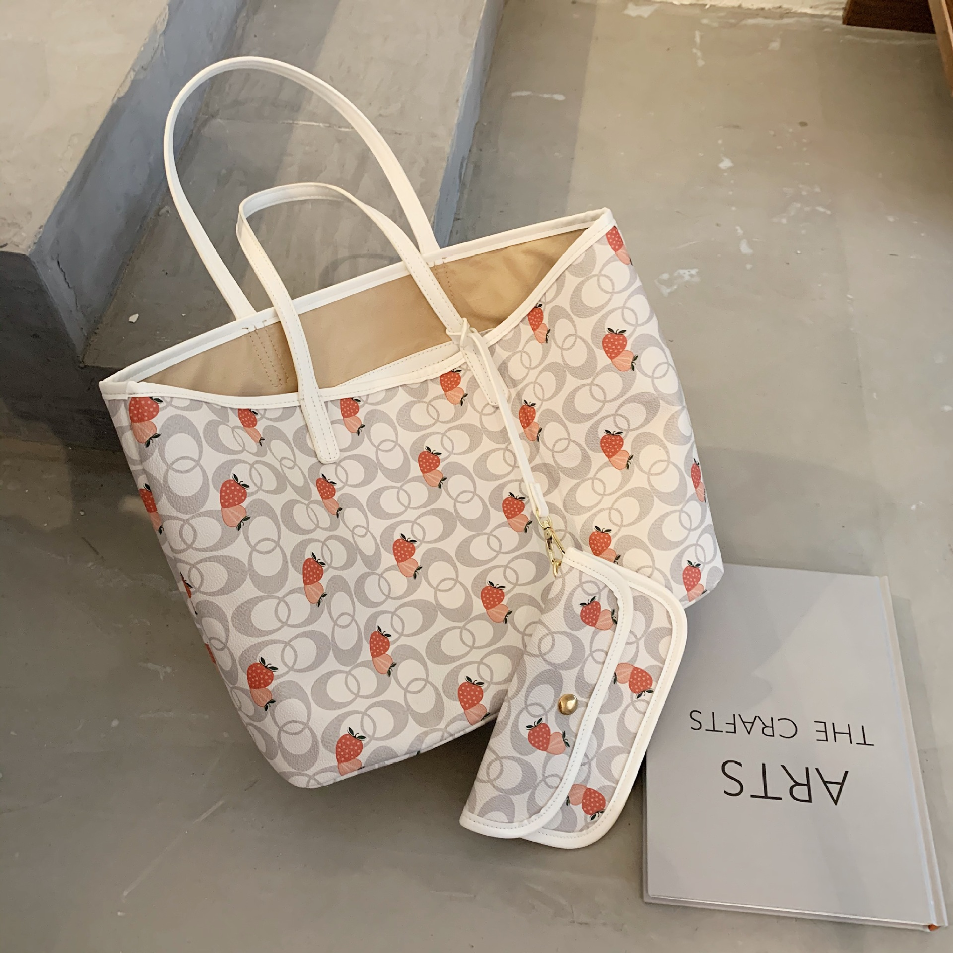 Simple Mass Shoulder WOMEN'S Bag 2020 Summer New Style Fashion Versitile Fashion Network Red Printing Toth Large Bag(China)