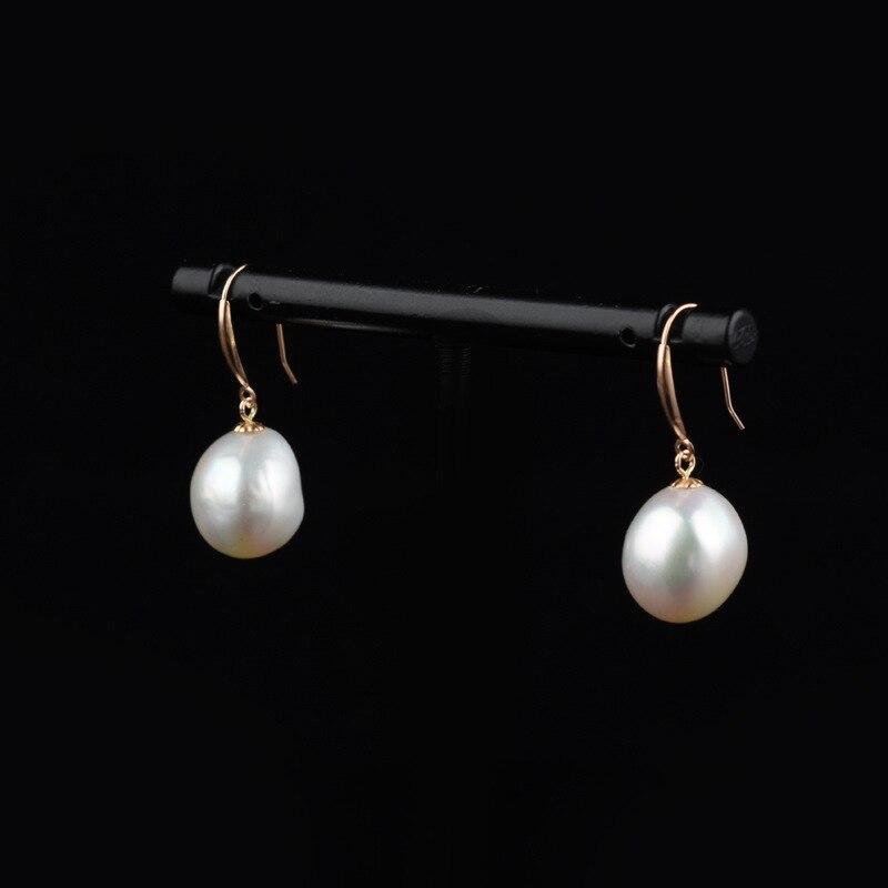 Fille mode boucle d'oreille clou véritable Baroque perle incrustée boucles d'oreilles 925 en argent Sterling or femmes fête bijoux de mariage