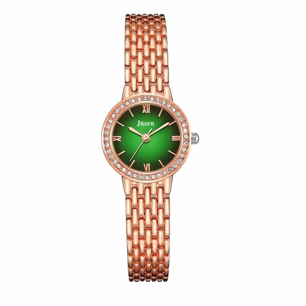 Mode Eenvoudige vrouw horloge armband elegante Ster Diamanten Ingelegd Legering Horloge Dames Quartz Horloge Veelzijdige rvs # ZH