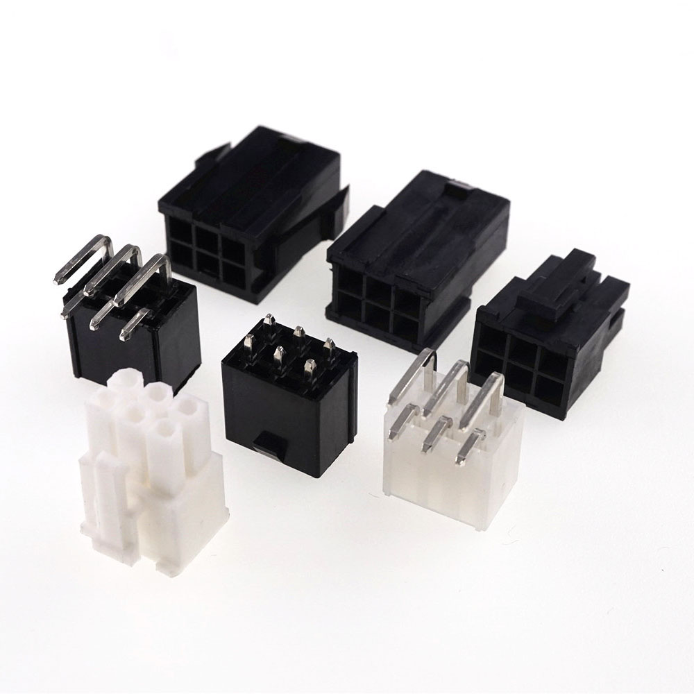 20pcs GPU 6 Pin Receptacle Plug Housing Male PCB Header Pins PCI-E PCI Express Graphics Video Card PCIe Computer Connector 4.2mm