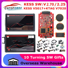 2.70 em linha da ue vermelho kess v5.017 obd2 gerente tuning kit ktag v7.020 4 led online versão mestre K-TAG 2.25 obd2 programador