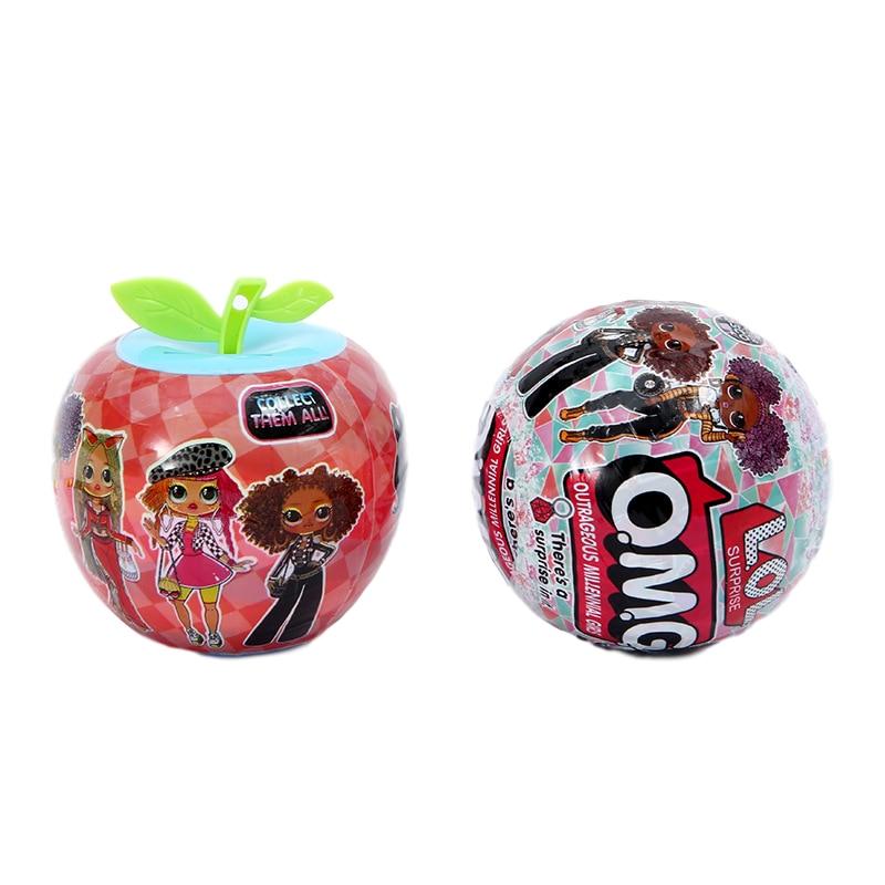 Lol Surprise Doll Omg Apple Ball Doll Blind Box Diy Educational