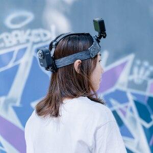 Image 2 - TELESIN حزام صدر للرأس ، حامل مزدوج ، مقاوم للانزلاق ، مرن ، تعديل قوي لـ GoPro 9 8 Osmo ، ملحقات Insta360
