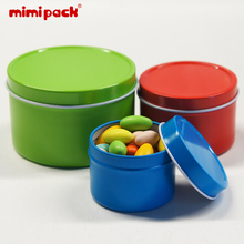 Set of 24 mimipack Round Top Lid Metal Tinplate Boxes Decora