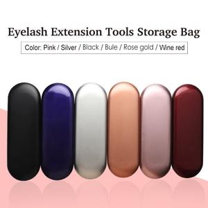 Image 5 - GLAMLASH Tinplate Case Eyelash Planting Tweezers Anti Static Affordable Tweezers for Eyelashes Extension Mink Lashes Makeup Tool