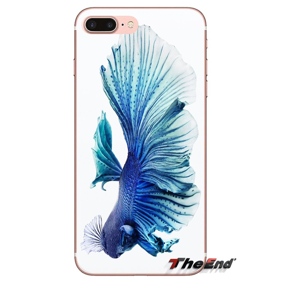 Phone Wallpaper Blue Betta Fish Transparent Soft Covers For