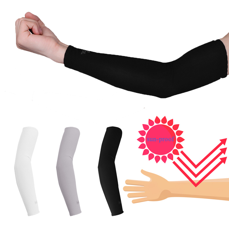 Arm Sleeves Dollar Pounds Mens Sun UV Protection Sleeves Arm Warmers Cool Long Set Covers
