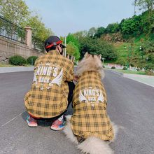 Vêtements à carreaux pour chiens de taille moyenne et grande, vêtements assortis pour animaux de compagnie, Costume à la mode pour chiens Golden Retriever, chemise carlin, printemps