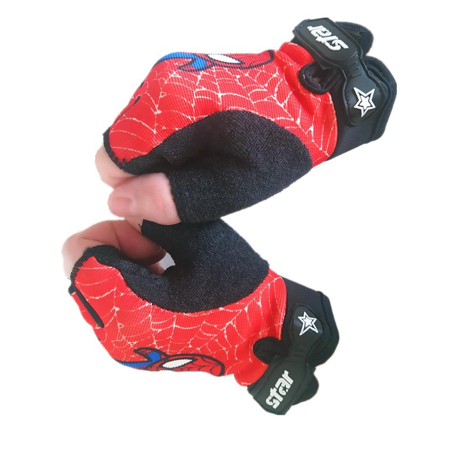 Детские велосипедные перчатки с открытыми пальцами, спортивные Нескользящие эластичные велосипедные перчатки для бега и оверлока, Детские...