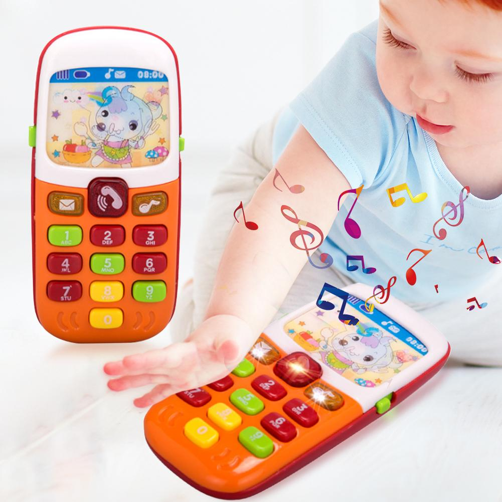 Texture Durable Plastic Mobile Phone Toy Practical Classic Delicate Electronic Musical Luminous Simulation Baby Toy