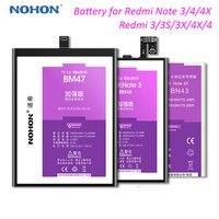 Nohon bm47 bateria do telefone para redmi 4x bateria bn41 para redmi nota 4 bateria bm46 bn43 bn40 para xiaomi redmi 3 3s 4pro nota 4 4x