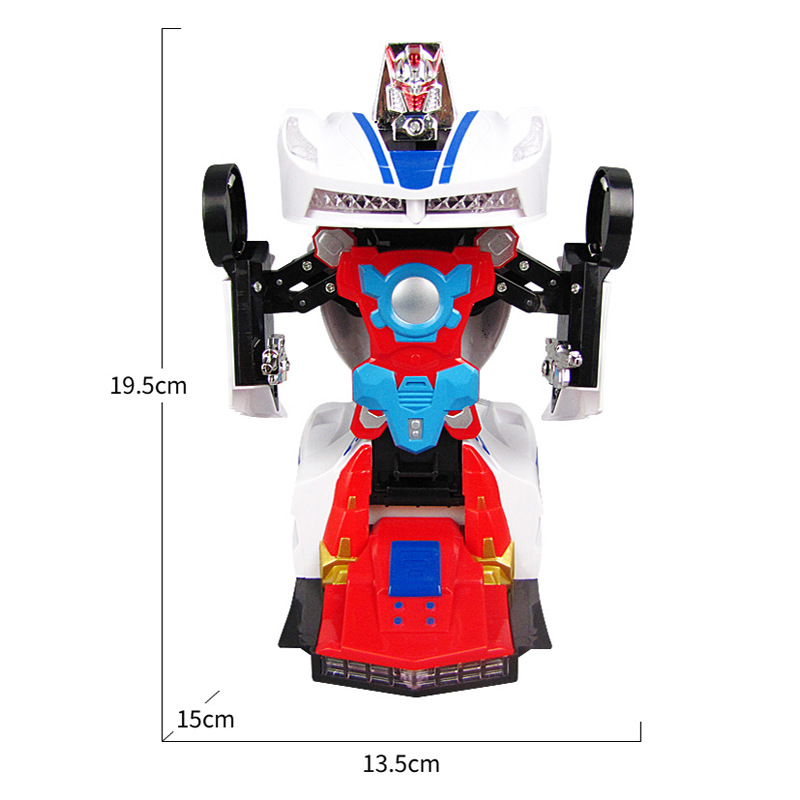 Electric Transformer Toy Car With Light And Music Toy Car Automatic Transform Mode Race Car Model Car