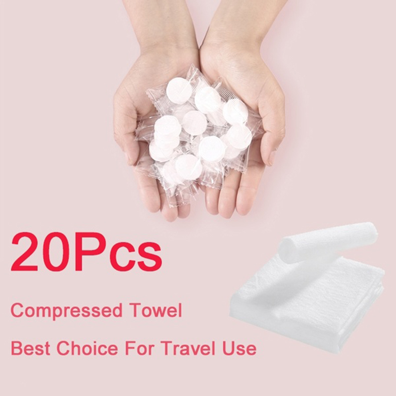 20pcs/set Portable Travel Cotton Compressed Towel Expandable Mini Face Care Healthy Magic Towel For Outdoor Sports Tracvel
