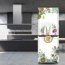 3D Self Adhesive Dishwasher Refrigerator Sticker Fridge Wrap Freezer Sticker Wallpaper Kid's Art(China)