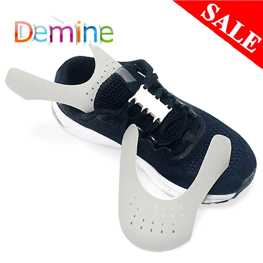 Demine Shoe Shield Sneaker Shields Anti-Crease Fold Shoes Support Bending Crack Toe Cap Shoes Strecher Protector Dropshipper
