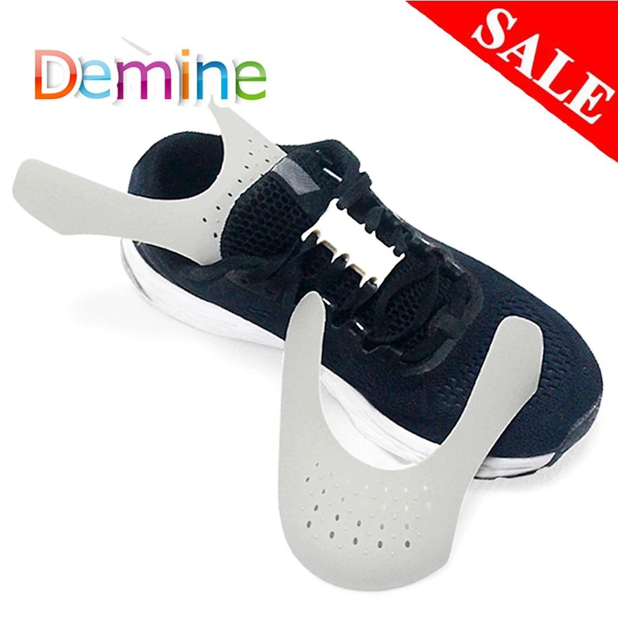 Demine Shoe Shield Sneaker Shields Anti-Crease Fold Shoes Support Bending Crack Toe Cap Shoes Strecher Protector Dropshipper