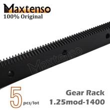 MAXTENSO 5 шт. 1.25mod Модулус ЧПУ, зубчатая рейка спиральные зубы 1400 мм гравировальный станок высокой точности 5 шт./партия