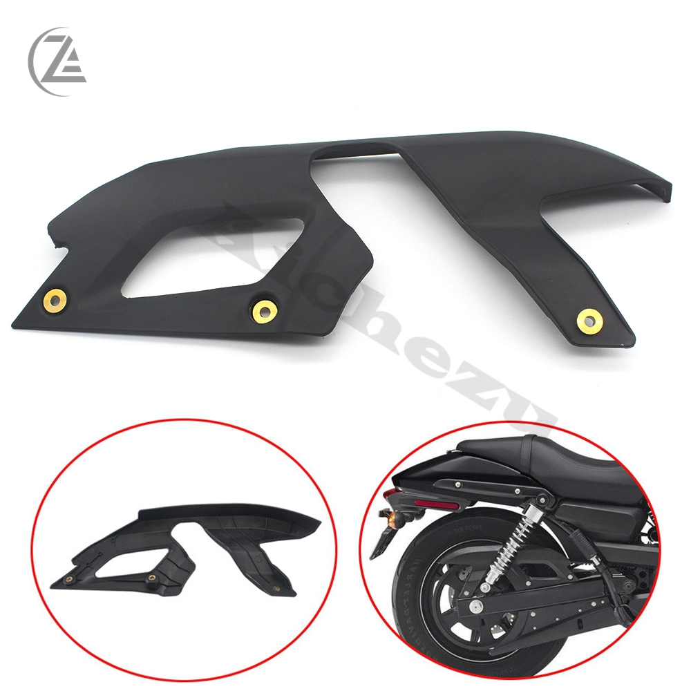 ACZ Motorcycle Accessories 1x Rear Black Upper Belt Cover Guard Kit for 2015 <font><b>Harley</b></font> <font><b>XG750</b></font> XG 750 111 Street image