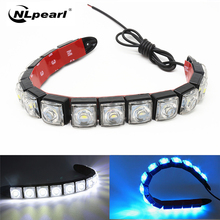 цена на Nlpearl 2PCS Car Light Assembly Led Daytime Running Lights DRL Car Daytime Lamp Super Bright DRL Waterproof Driving Lamps 12V