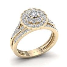 Anillo De oro De 14 quilates con forma De flor Vintage para mujer, 2,5 quilates, joyería De diamante Natural, sortija De boda De piedras preciosas
