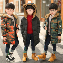 Get more info on the Jacket for Boy Hooded Winter Jackets Snow Flower with Camouflage Pattern Parkas For Teenagers Boys Thick Long Coat Kids Clothes