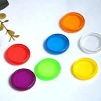 12 pçs 28mm disco caderno cor cogumelo buraco anel de plástico discos removíveis loose-leaf notebook diy mão livro acessórios anel