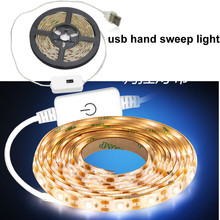 Wireless PIR Motion Sensor LED Strip light 5V Auto on/off Stair Wardrobe Closet Bed Garland Diode Tape Closet Cabinet Stairs