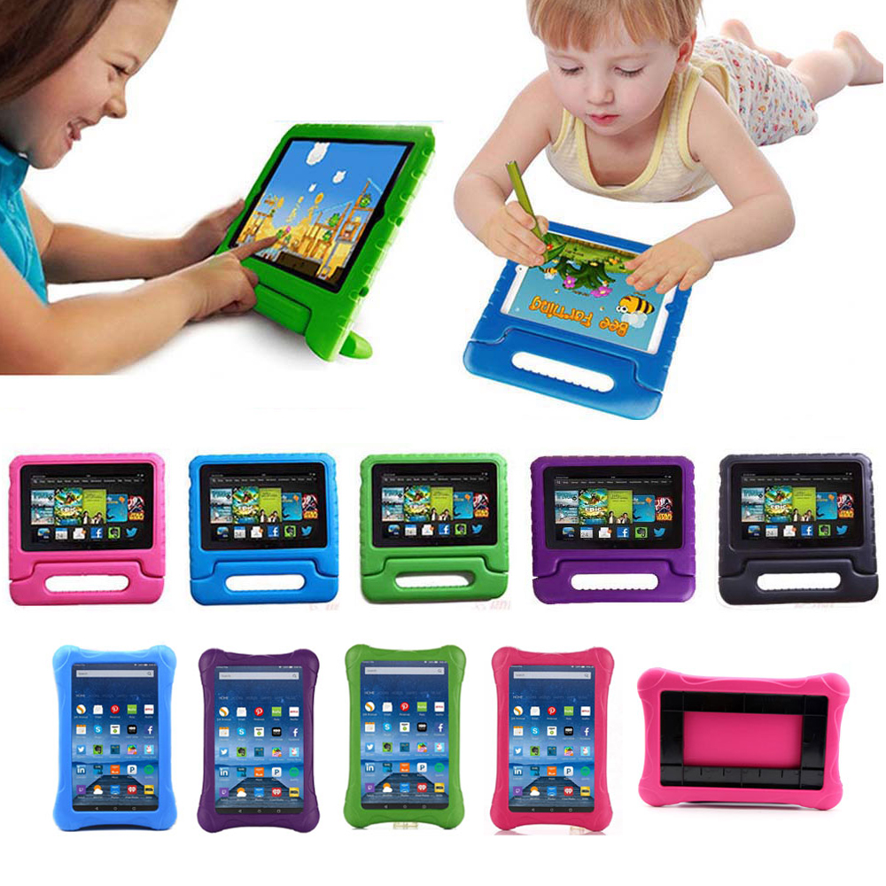 Kids Shockproof Case Handle Stand Cover For Amazon Kindle Fire 7 2015 2017 Release EVA Foam Tablet Protect Case for Children image