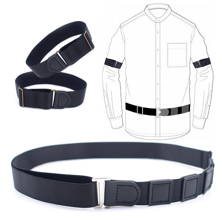 3pcs/set 2020 The New Suspenders Belt Adult Unisex Anti-slip And Anti-wrinkle Strap For Shirt Cuff Waist Combination
